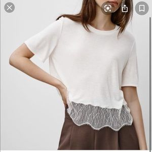 Wilfred T-Shirt With Lace (TAUPE)